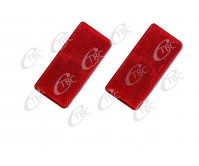 2 X REFLECTOR ADHESIVE RED 95MM X 45MM TRAILER TRUCK CARAVAN SIDE