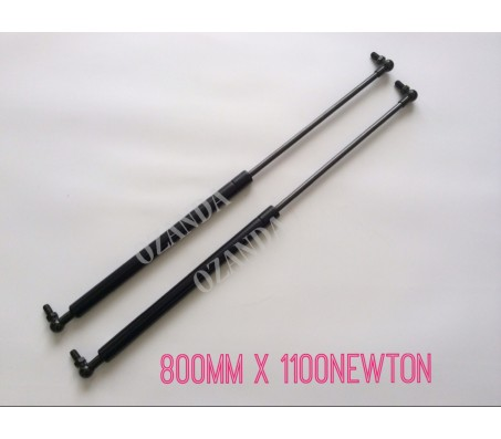 gas struts. pair 800mm long x 1100 newton . caravan, camper trailer, tradesman