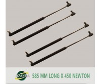 2 Pair Gas Strut / Springs  585MM Long - 450NEWTON Caravan Camper Trailer Canopy Lift Support Prop