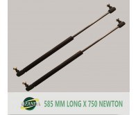 1 Pair Gas Strut / Springs  585MM Long - 750NEWTON Caravan Camper Trailer Canopy Lift Support Prop