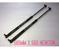 gas struts. pair 585mm long x 550 newton . caravan, camper trailer, tradesman