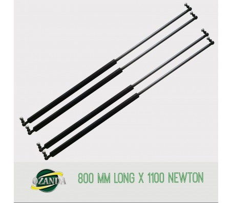2 Pair Gas Strut / Springs  800MM Long - 1100NEWTON Caravan Camper Trailer Canopy Lift Support Prop