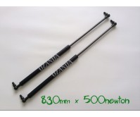 gas struts. pair 830mm long x 500 newton . caravan, camper trailer, tradesman