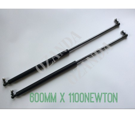 gas struts. pair 600mm long x 1100 newton . caravan, camper trailer, tradesman