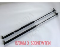 gas struts. pair 670mm long x 500 newton . caravan, camper trailer, tradesman