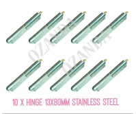 10 x Hinge Greasable Stainless Steel Weld 13x80mm Window Trailer Gate Caravan