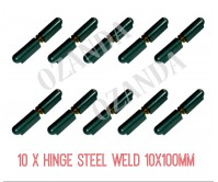 10 x Hinge Non-Greasable Steel Weld 10x100mm Window Trailer Gate Caravan