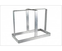 20 LITRE STANDARD JERRY CAN HOLDER GALVANISED . TRAILER, CARAVAN, CAMPER PART