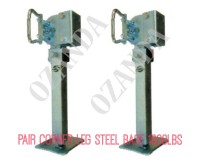 Drop Down Corner Steadies Stabilizer Legs Pair 450MM Plastic Base 1000LBS
