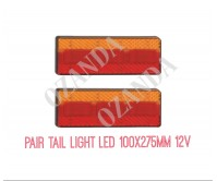 2 x LED Trailer Tail Light Brake Indicator Tail 12V Part Submersible Boat 275BAR
