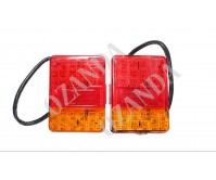 Pair Tail Lights Lamp Indicator 120X90mm 10-30V 30 LED Trailer Truck Caravan