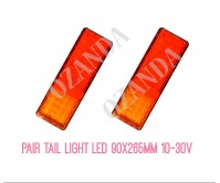 PAIR LED LIGHT 10-30V 90X265MM STOP TAIL INDICATOR TRUCK CARAVAN