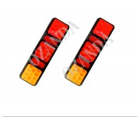PAIR LED LIGHT 10-30V 100X340MM STOP TAIL INDICATOR TRUCK CARAVAN TRAILER