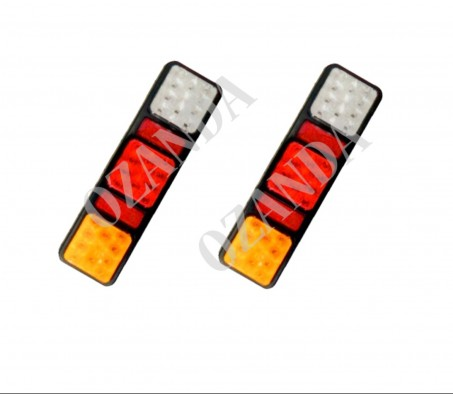 PAIR LED LIGHT 10-30V 100X340MM BRAKE TAIL INDICATOR REVERSE TRUCK CARAVAN