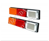 2 x LED Trailer Tail Light 130x600mm 10-30V Brake Indicator Reverse Truck