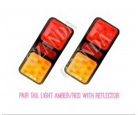Pair Led Light Double Tail Stop Tail Indicator 10-30V 100X220mm