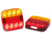 2 X LED Trailer Stop/Tail Indicator Reflector License 12V Submersible 99ARL