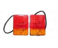 Pair Stop Tail Lights Lamp Indicator 120X90mm 12V 30 LED Trailer Truck Caravan
