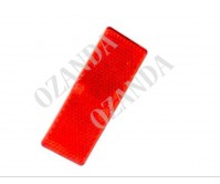 RED REFLECTOR ADHESIVE 55MM X 25MM TRAILER TRUCK CARAVAN SIDE