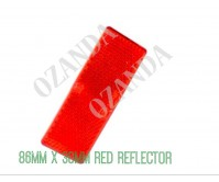 RED REFLECTOR ADHESIVE 86MM X 30MM TRAILER TRUCK CARAVAN SIDE
