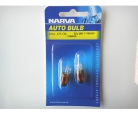 NARVA BULB WEDGE T10mm 12V 5W BLISTER (2) 47501BL