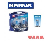 NARVA H4 GLOBES INTENSE MAXIMUM LEGAL BLUE WITH PLUS 30 HEADLIGHTS 48472BL2