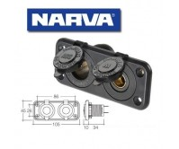Narva Heavy-Duty Twin Accessory/Merit Sockets 81140BL