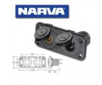 Narva Heavy-Duty Twin Merit/Engel Type Sockets 81142BL