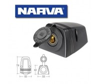 Narva Heavy Duty Surface Mount Merit Socket 81150BL