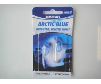 NARVA BULB WEDGE T10mm 12V 5W BLISTER (2) PREMIUM ARCTIC BLUE 17189BL2
