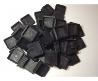 100 x Plastic End Caps Tube Insert 40x40mm Square Flat Top FOR TUBING, TRAILER