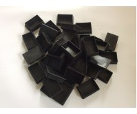 10 x Plastic End Caps Tube Insert 75x50 mm Square Flat Top FOR TUBING, TRAILER