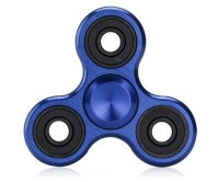 Blue Metal Tri-Fidget Spinner Hand Finger Spinner ADHD EDC Focus Stress Releaver Toy Gift For Kids Adults Autism