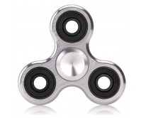 Silver Metal Tri-Fidget Spinner Hand Finger Spinner ADHD EDC Focus Stress Releaver Toy Gift For Kids Adults Autism
