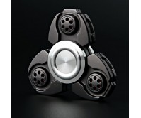 Black CKF Style Tri-Fidget Spinner Hand Finger Spinner ADHD EDC Focus Stress Releaver Toy Gift For Kids Adults Autism