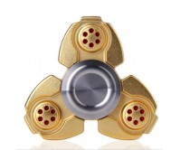 Gold CKF Style Tri-Fidget Spinner Hand Finger Spinner ADHD EDC Focus Stress Releaver Toy Gift For Kids Adults Autism