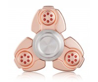 Rose Gold CKF Style Tri-Fidget Spinner Hand Finger Spinner ADHD EDC Focus Stress Releaver Toy Gift For Kids Adults Autism
