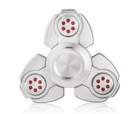 Silver CKF Style Tri-Fidget Spinner Hand Finger Spinner ADHD EDC Focus Stress Releaver Toy Gift For Kids Adults Autism