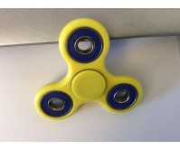 Tri Fidget Finger Spinner Focus Stress Reliever-Yellow