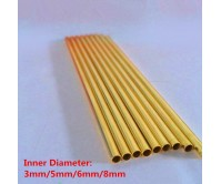 20pcs 8x300mm Bendable H62 Brass Copper Tube Long Round DIY Craft Pipe Tubing for Transfering Modelmaking