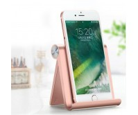 Rose Gold Desk Stand Holder Mount Rack Station For iPhone 7 6s Plus 5s iPad Mini iPad Pro Tablets Samsung Galaxy HTC Phone