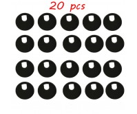 20x 35mm Computer Office Desk Table Cable Grommet Round Surface Outlet Wire Hole Cover